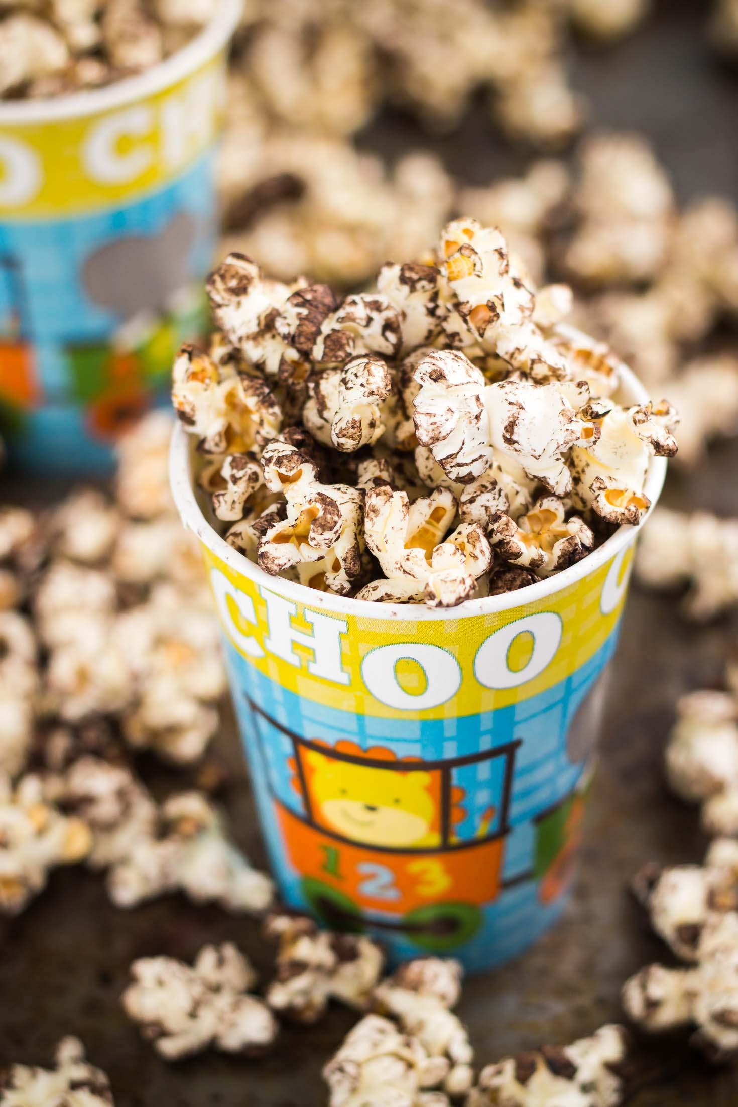 Vegan Sea Salt Chocolate Popcorn