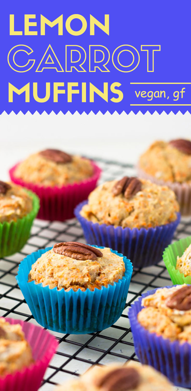 Lemon Carrot Muffins (GF + Vegan)