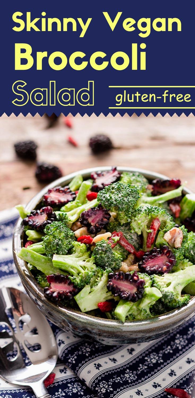 Skinny Vegan Broccoli Salad