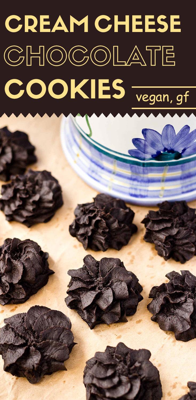 Soft Cream Cheese  Chocolate Cookies (Vegan/GF)