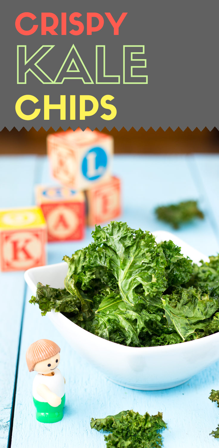 These feather-light kale chips are absolutely superior snacks with loads of vitamins, minerals, and fibers, compared to salty potato chips. (#kidsrecipe #vegetables #kale #healthysnacks #vegan #glutenfreesnack #allnatural)