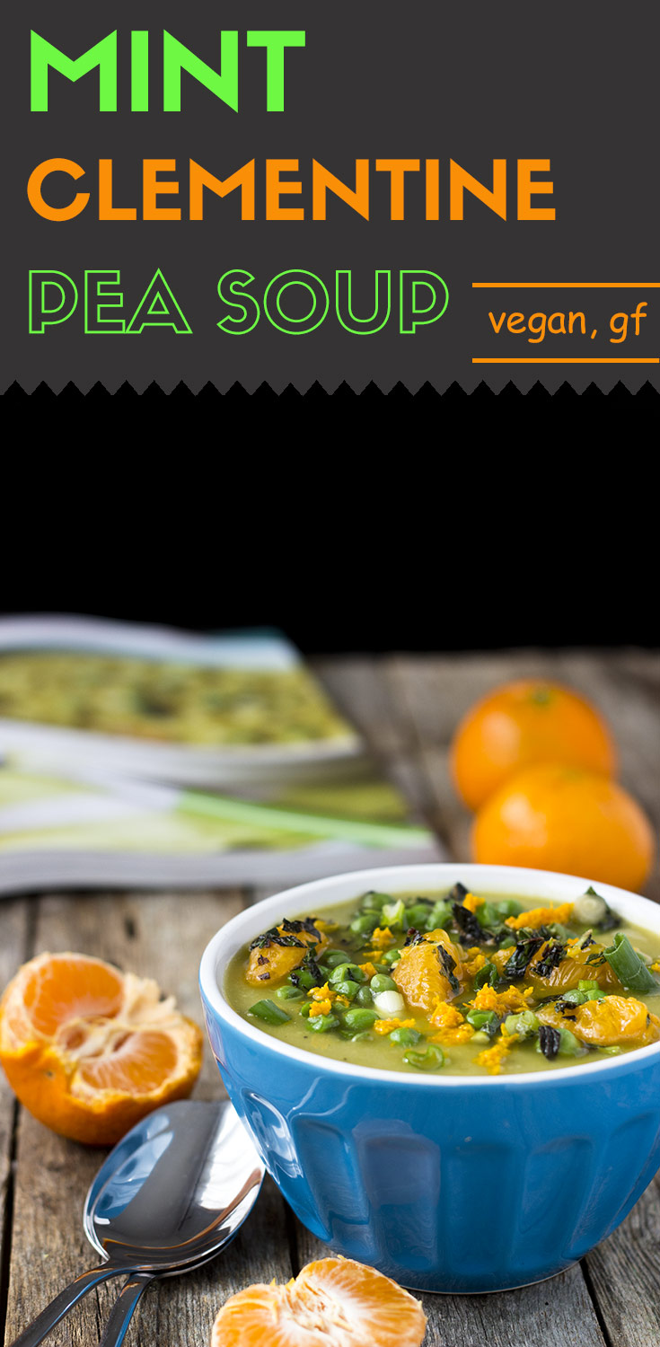 This sweet and split pea soup is filled with a fresh minty flavor. Adding clementines gives it a sweet twist. It's a perfect spring soup that will delight your family. (Vegan | Gluten-free) #bookreview