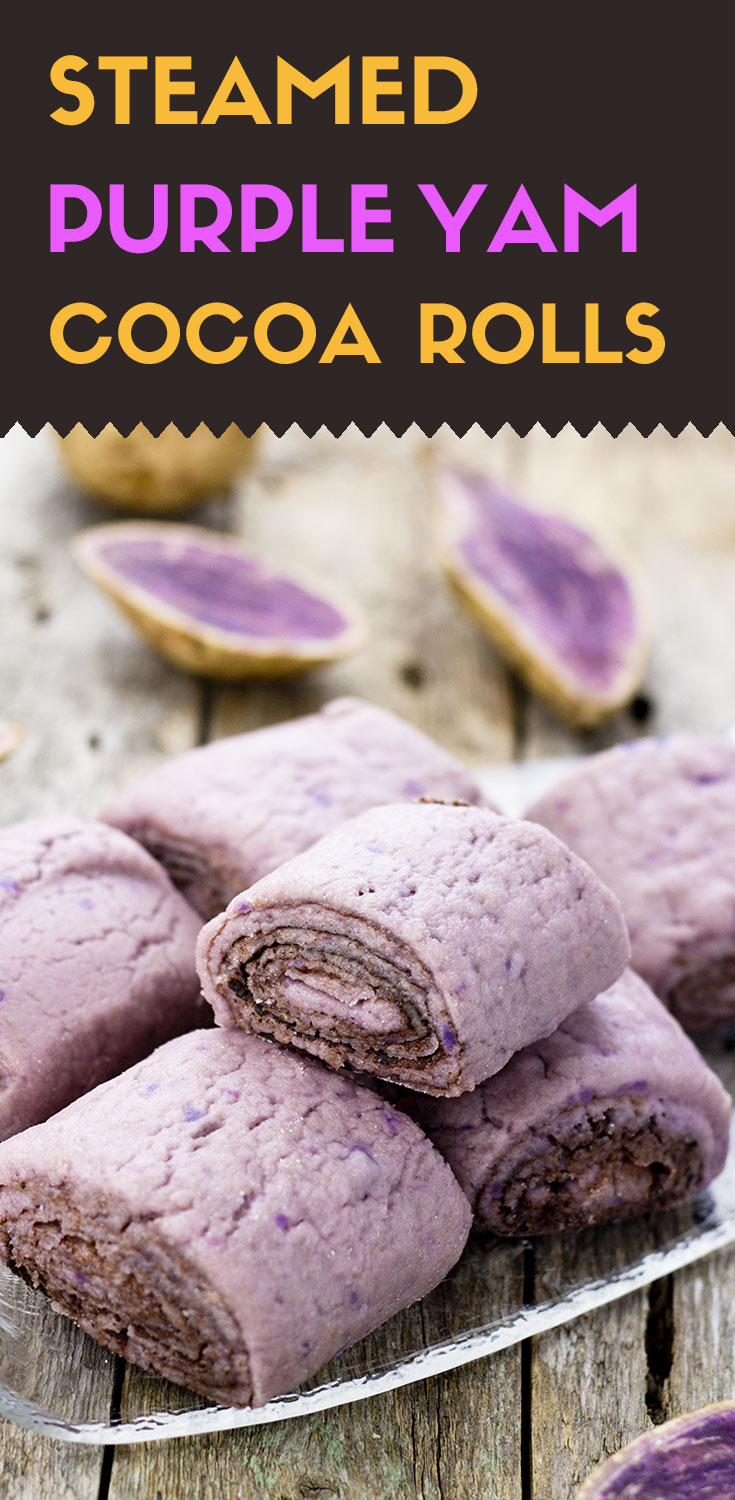 Gluten-Free Steamed Rolls with Purple Yam and Cocoa