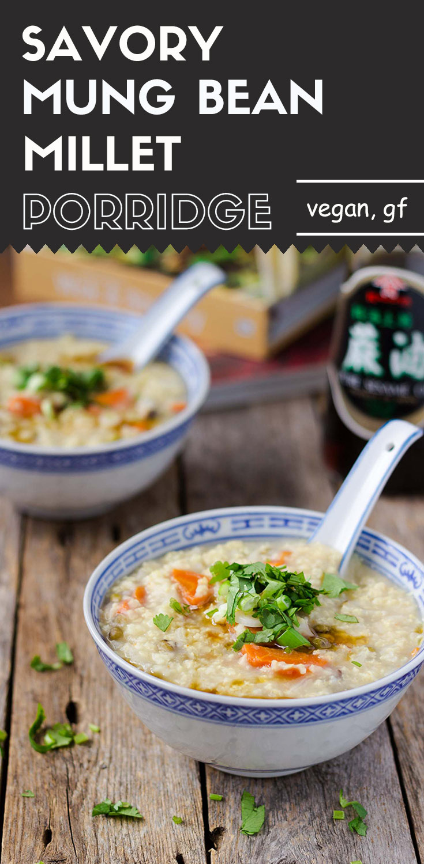 Savory Mung Bean Millet Porridge