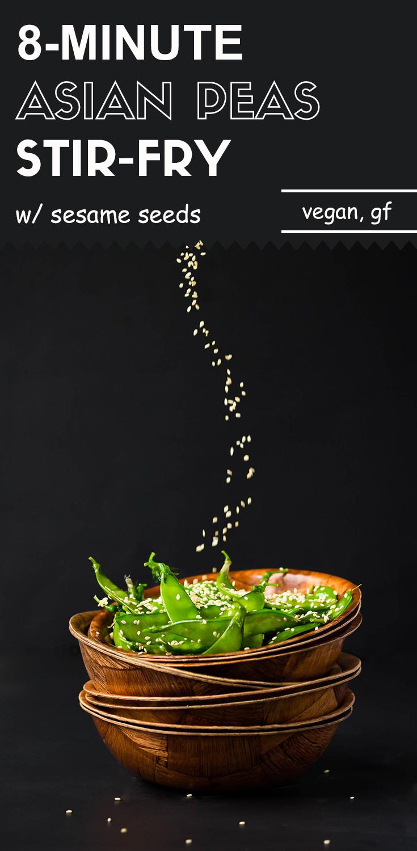 8-Minute Asian Peas-Stir-Fry with Sesame Seeds