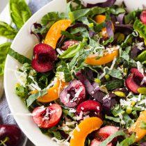 garden Tuscan kale beet green salad