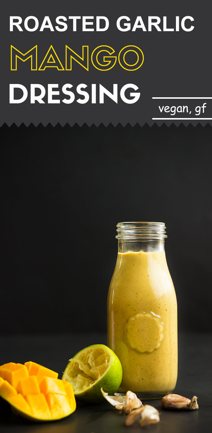 Roasted Garlic Mango Dressing-front view-in a glass jar
