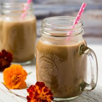 front view of two jars of pumpkin spice latte smoothie, small square image