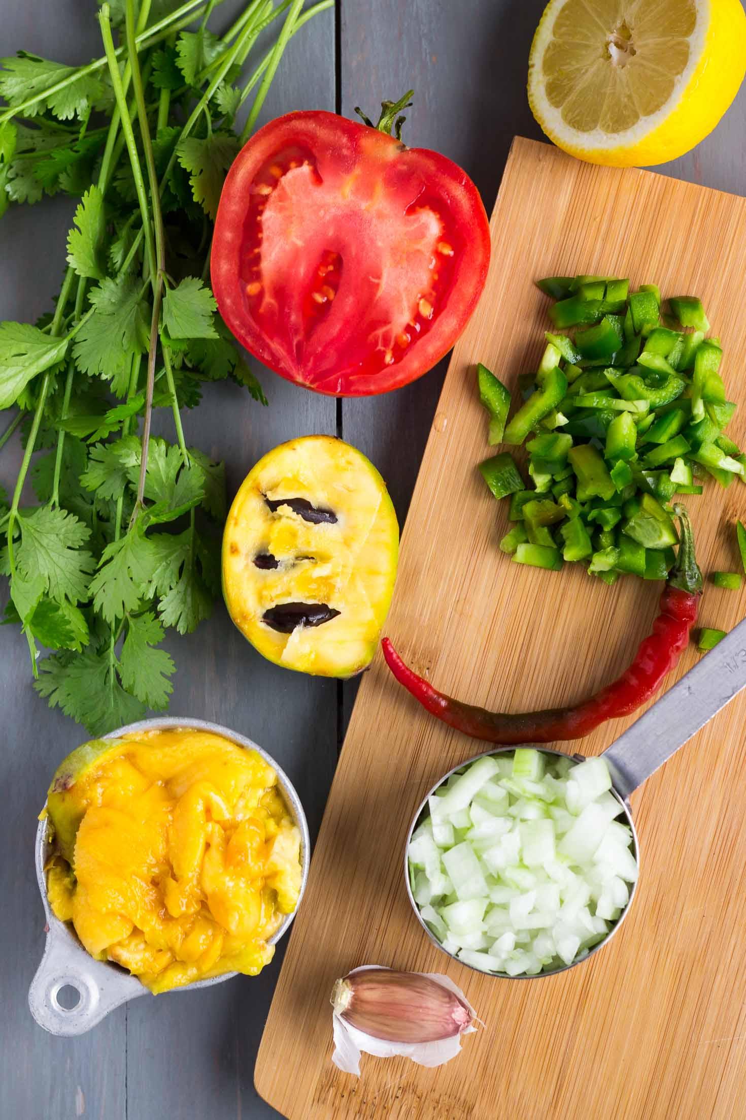 simple pawpaw salsa