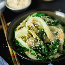 Ginger Miso Bok Choy Stir-fry-small square image