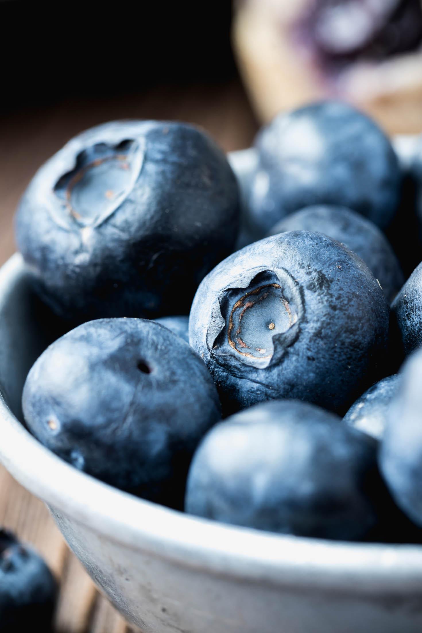 Zesty Ginger Blueberry Muffins-Ingredient-fresh blueberries