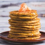 Gluten-Free Ginger Orange Pancakes-front view-small square image