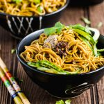 Mustard Paste Buckwheat Noodle Salad-front view-small square image