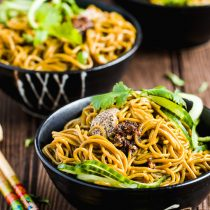 Mustard Paste Buckwheat Noodle Salad