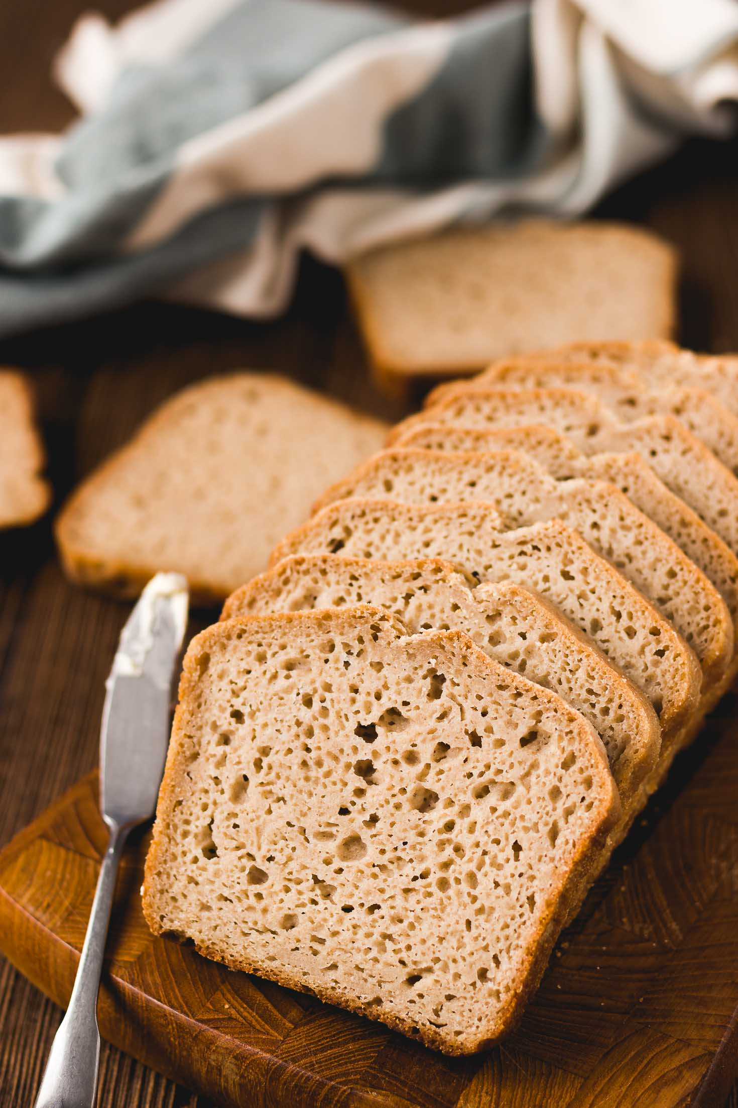 The Best Homemade Gluten-free Bread- top view of the texture
